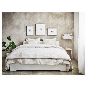IKEA - ASKVOLL Bedframe - 140x200 cm - Wit