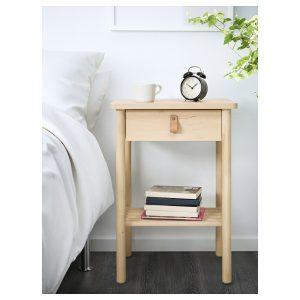 IKEA - BJÖRKSNÄS Nachtkastje - 48x38 cm - Berken
