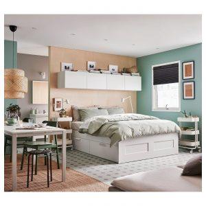 IKEA - BRIMNES Bedframe met opberglades - 160x200 cm - Wit