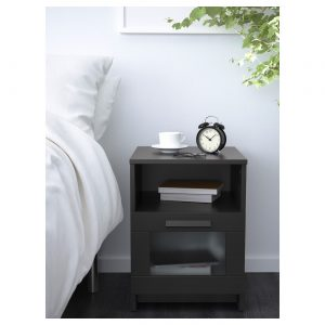 IKEA - BRIMNES Nachtkastje - 39x41 cm - Zwart