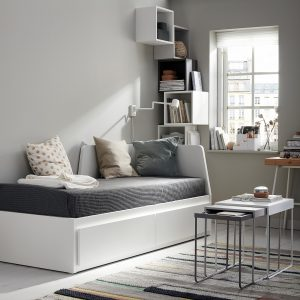 IKEA - FLEKKE Bedbank met 2 lades - 80x200 cm - Wit