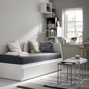 IKEA - FLEKKE Bedbank met 2 lades/2 matrassen - 80x200 cm