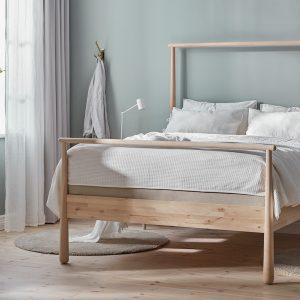 IKEA - GJÖRA Bedframe - 140x200 cm - Berken