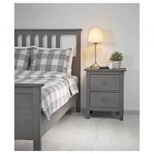 IKEA - HEMNES Bedframe - 140x200 cm - Grijs gelazuurd