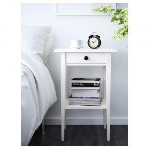 IKEA - HEMNES Nachtkastje - 46x35 cm - Wit gebeitst
