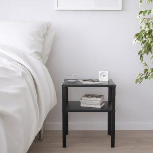 IKEA - KNARREVIK Nachtkastje - 37x28 cm - Zwart
