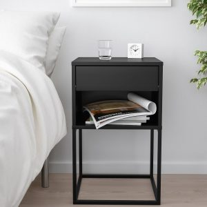IKEA - VIKHAMMER Nachtkastje - 40x39 cm - Zwart