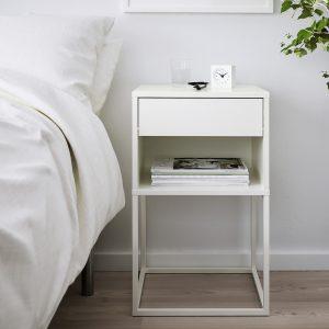 IKEA - VIKHAMMER Nachtkastje - 40x39 cm - Wit