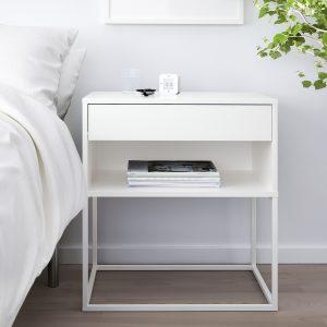 IKEA - VIKHAMMER Nachtkastje - 60x39 cm - Wit