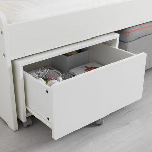 IKEA - SLÄKT Opbergbak op wielen - 62x62x35 cm - Wit