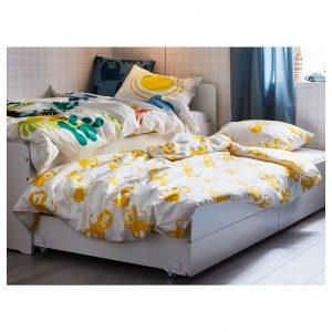 IKEA - SLÄKT Onderbed met opbergruimte - 90x200 cm - Wit