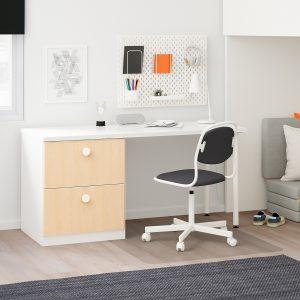 IKEA - STUVA / FÖLJA Hoogslapercombi m 2 lades/2 deuren - 207x99x182 cm - Wit/berken