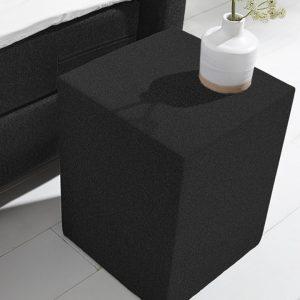 Hocker Salerno - 35 x 45 x 35 cm - anouk zwart -